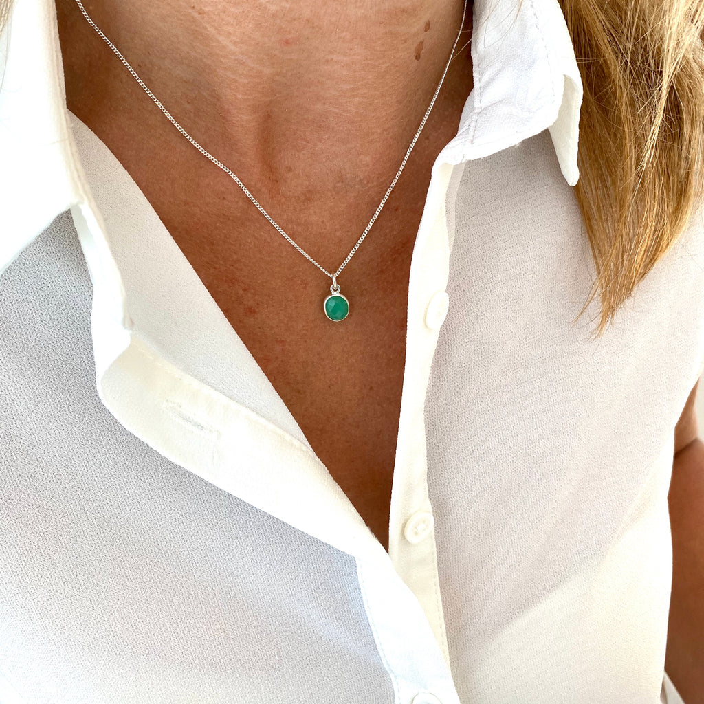Silver Chrysoprase Necklace - KookyTwo