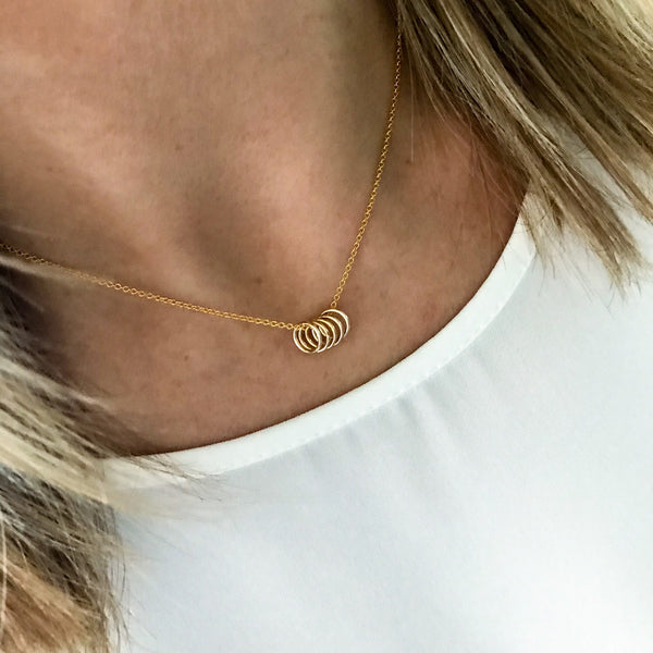 Gold Five Rings Necklace - KookyTwo