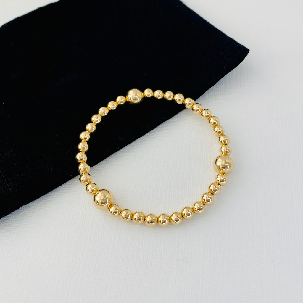 Gold Shine Bead Bracelet