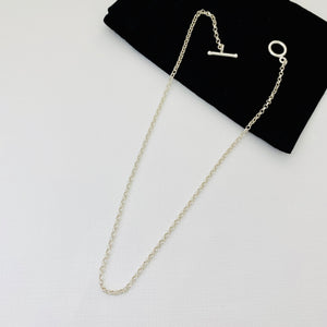 Silver T Bar Necklace