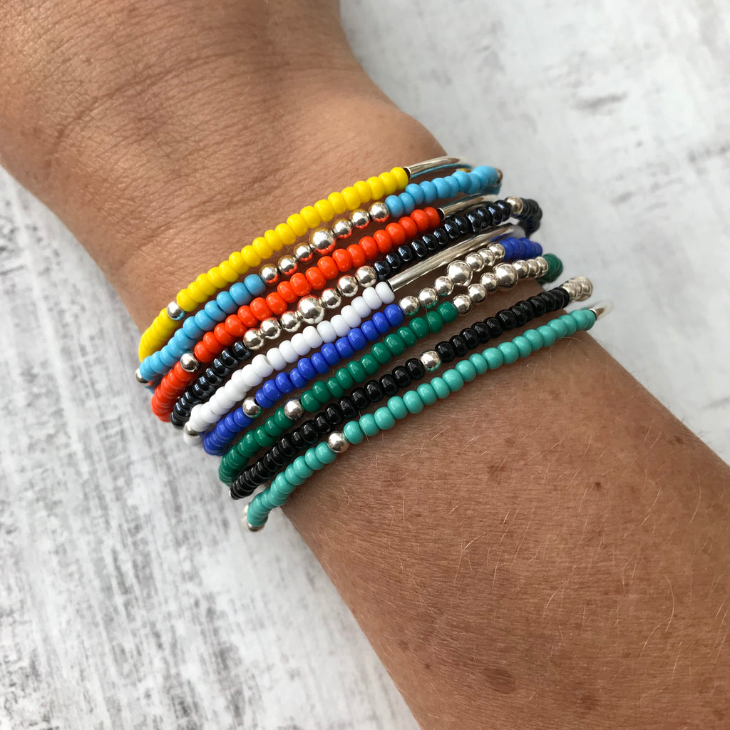 Colour Bracelet Stack - Set of 3 - KookyTwo