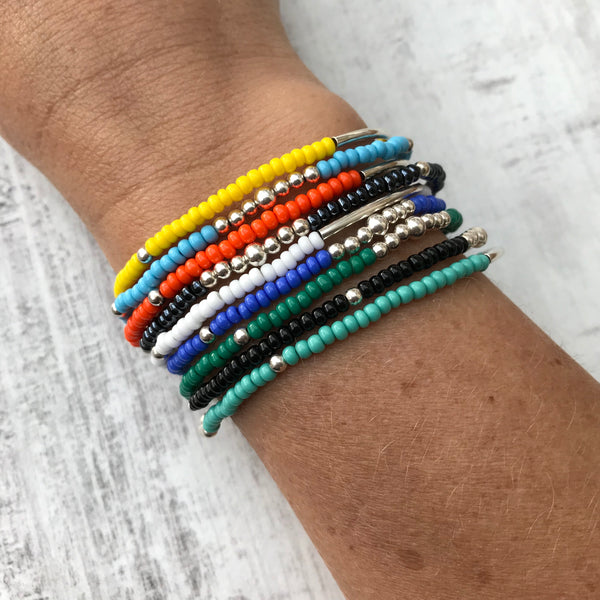 Colour Bracelet Stack - Set of 3