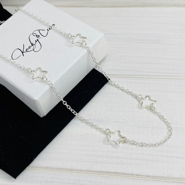 Silver Stars Necklace - KookyTwo