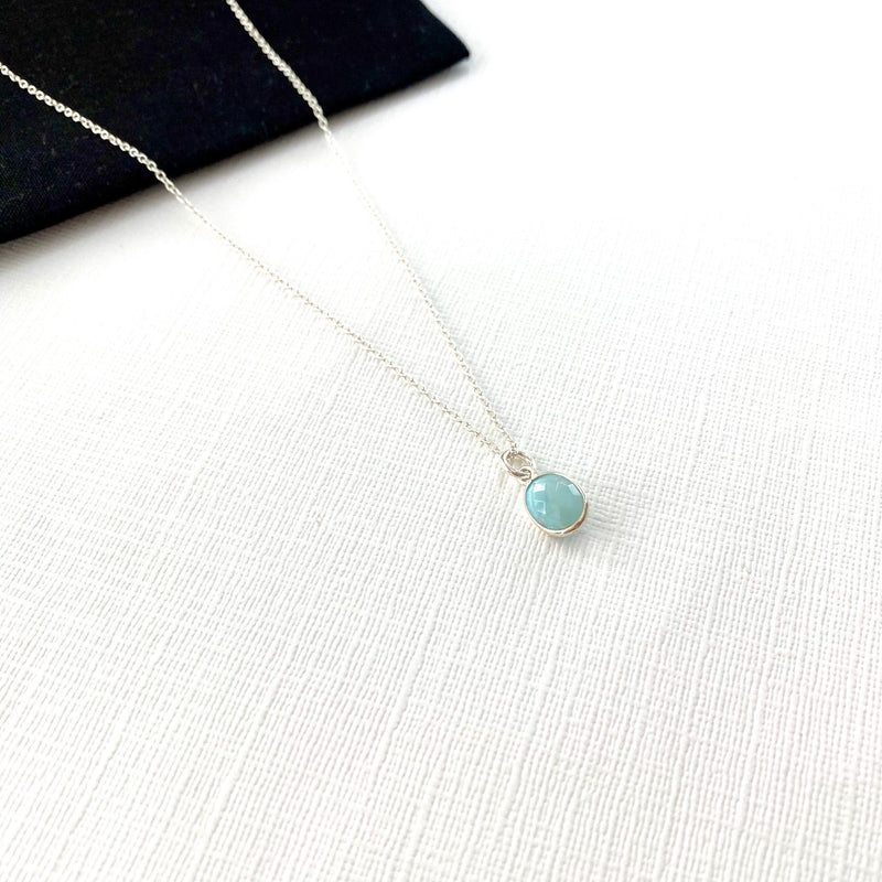 Silver Larimar Necklace - KookyTwo