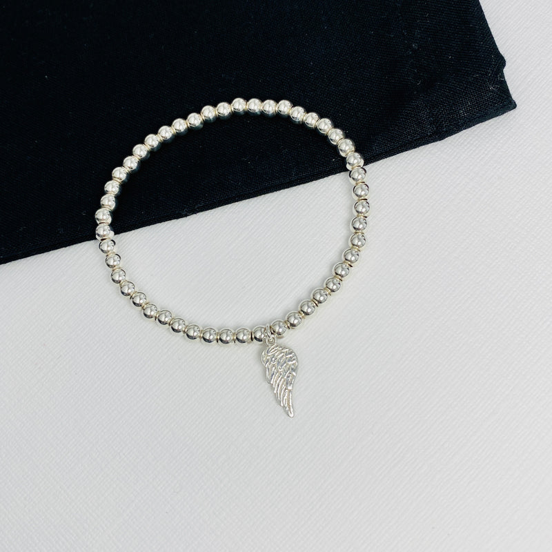 Silver Angel Wing Bracelet