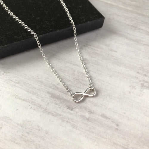 Silver Infinity Necklace - KookyTwo