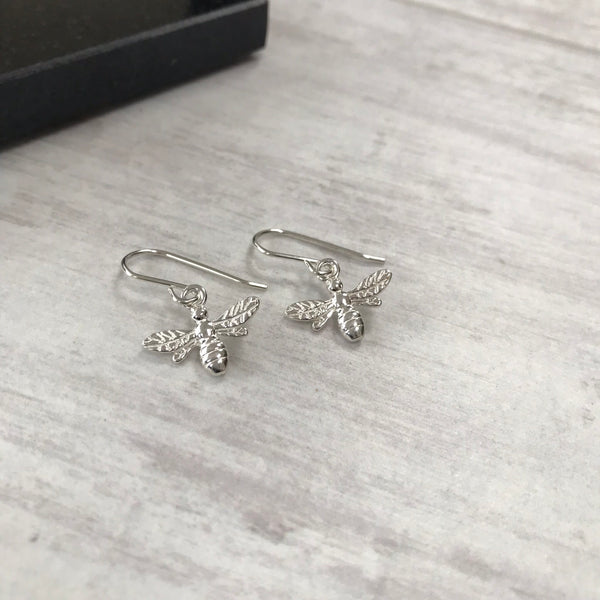Silver Bee Earrings - KookyTwo