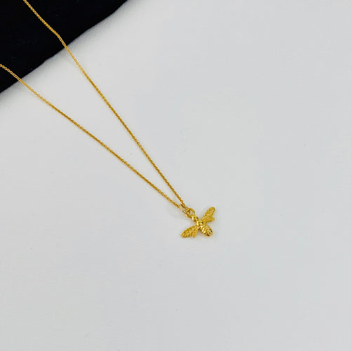 Gold Bee Necklace - KookyTwo