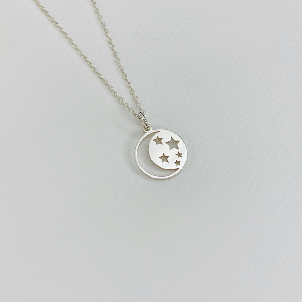 Silver Moon and Star Necklace - KookyTwo