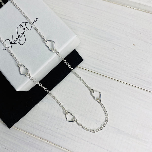 Silver Hearts Necklace - KookyTwo