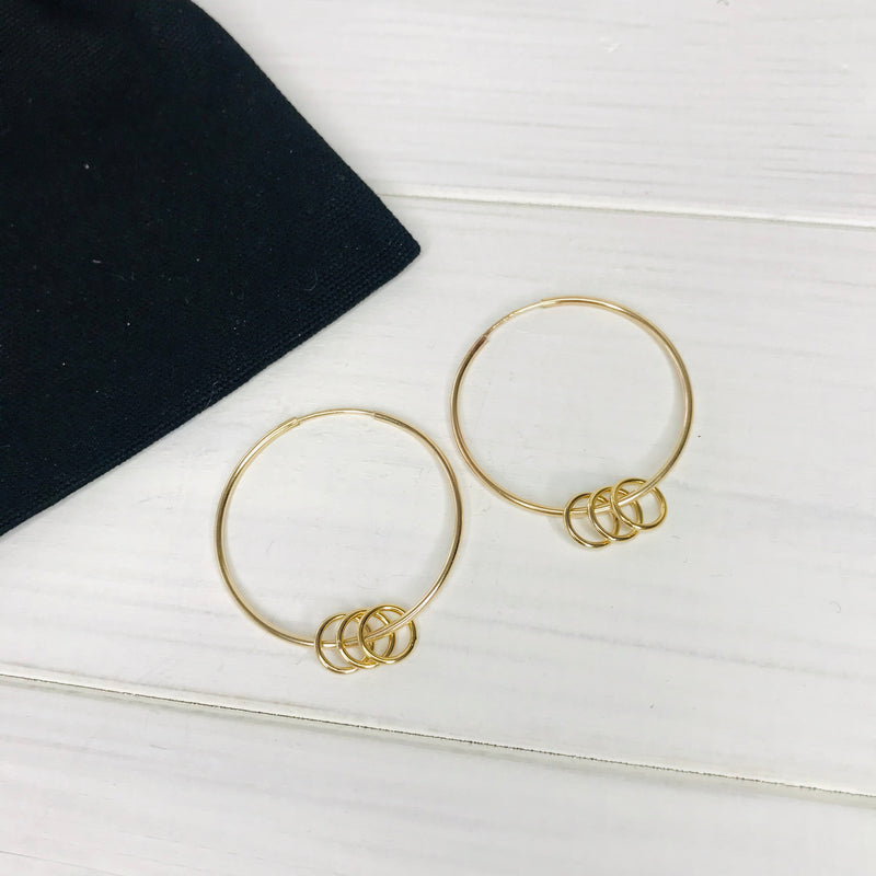 """The Carole"" Gold Rings Earrings - KookyTwo"