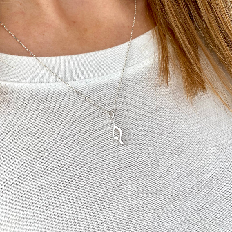 TUNE | Silver Music Note Necklace
