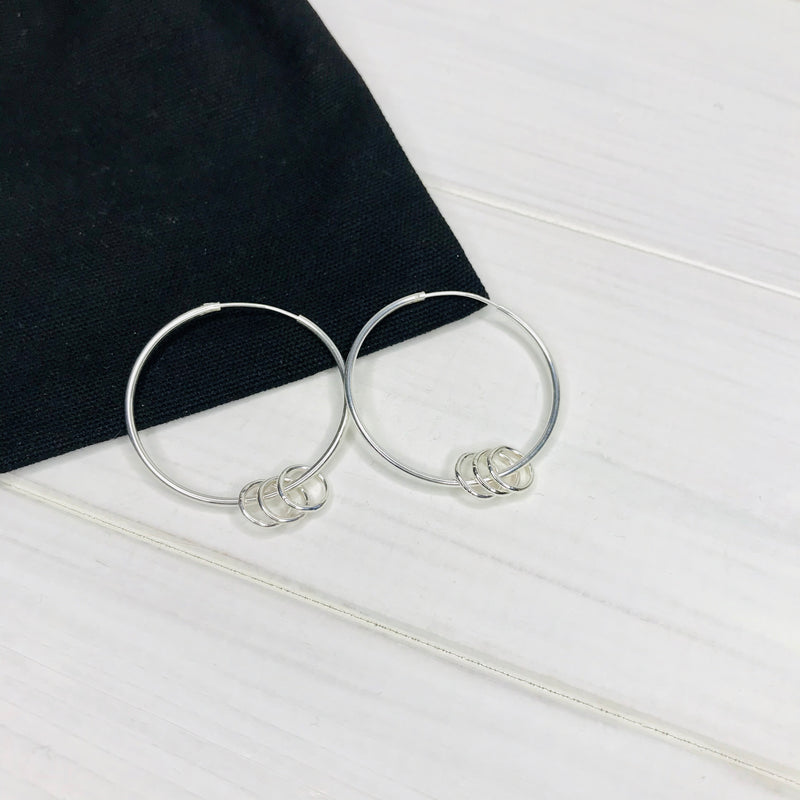 """The Carole"" Silver Rings Earrings - KookyTwo"