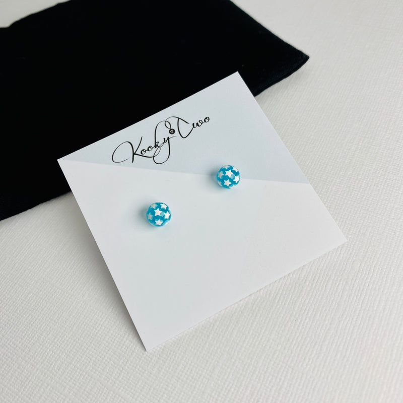 Turquoise Star Globe Earrings