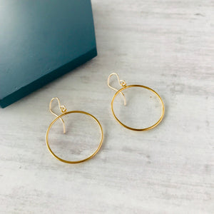 Gold Circle Earrings - KookyTwo