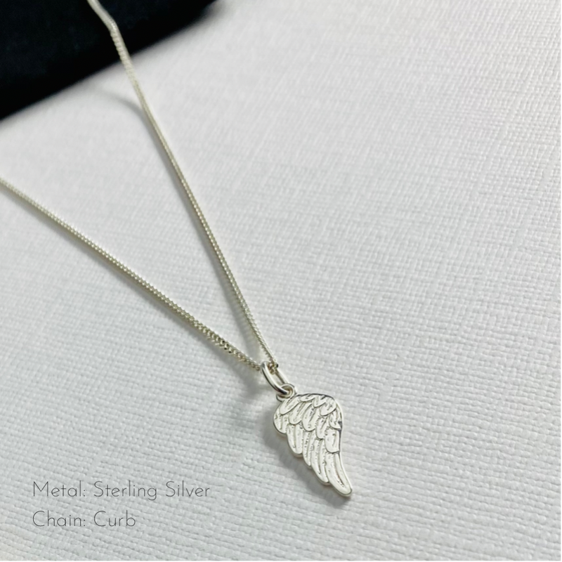 Silver Angel Wing Necklace - KookyTwo