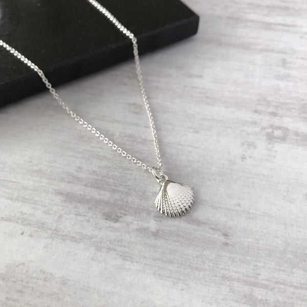 Silver Shell Necklace - KookyTwo