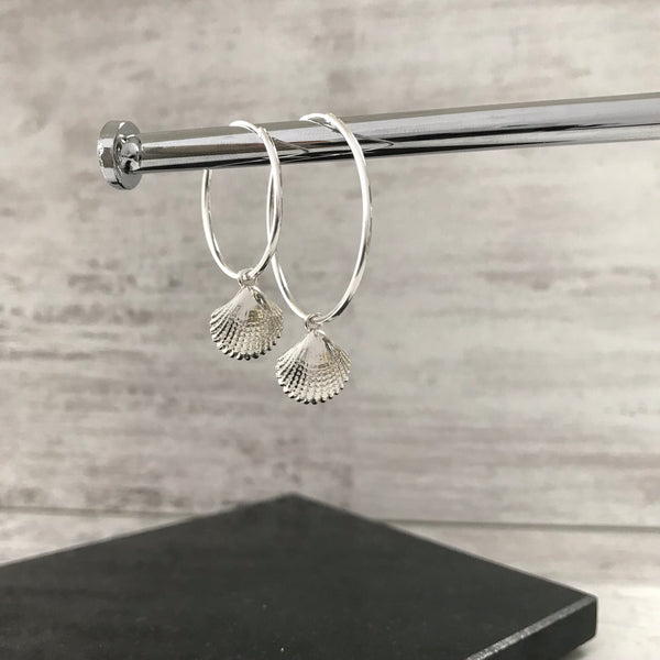 Silver Shell Earrings - KookyTwo