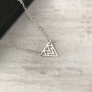 Silver Triangle Necklace - KookyTwo