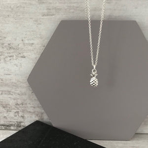 Silver Pineapple Necklace - KookyTwo