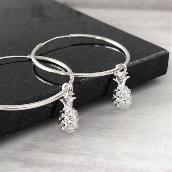 Silver Pineapple Earrings - KookyTwo