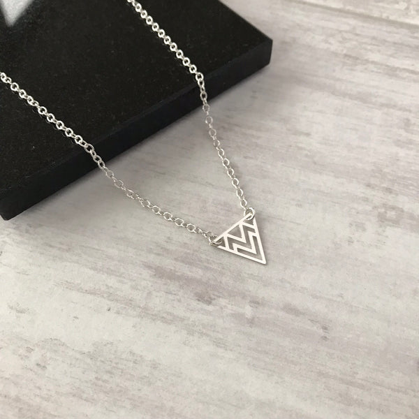 Silver Triangle Necklace