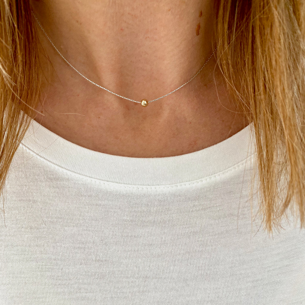 Dainty Gold Bead Necklace - KookyTwo