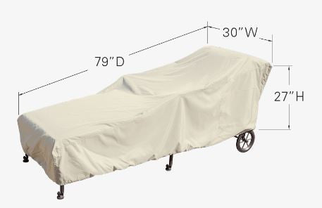 "Patio Furniture Cover - Chaise Lounge (30""W x 80""D x 27""H)"