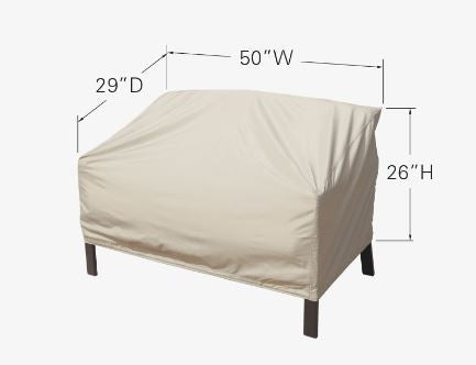 "Patio Furniture Cover - Loveseat, Chair, or Glider (50""W x 29""D x 26""H)"