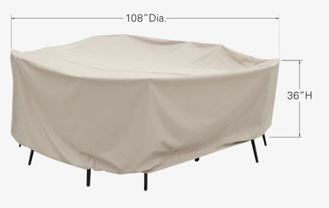 "Patio Furniture Cover - 60"" Round Table & Chairs (108""Dia. x 36""H)"