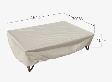 "Patio Furniture Cover - Coffee, Chat, or Occassional Table (30""W x 45""D x 15""H)"