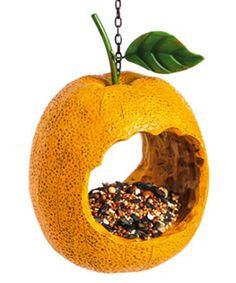 Evergreen Orange Bird Feeder