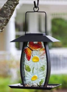 Solar Lighted Bird Feeder - 15""