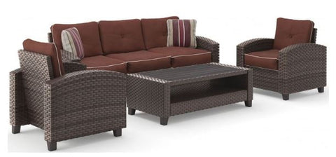 4-Piece Wicker Conversation Set