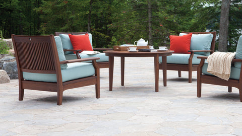 Opal Wood Deep Seating Set