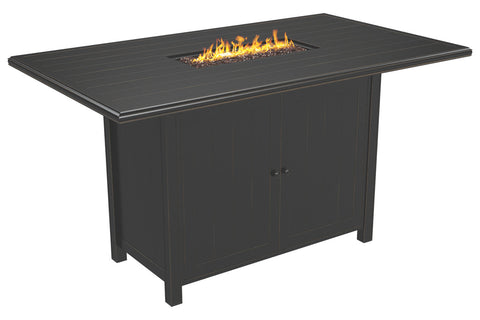 Bar Height Fire Table Dining Set