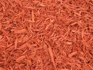 Dyed Red Mulch - Bulk (Per Yard)