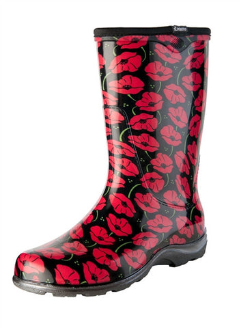 Red Poppies Rain Boots - By Sloggers