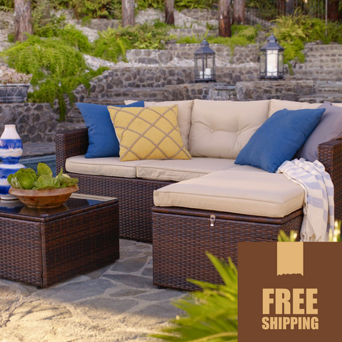 Rio 3 Piece Outdoor Wicker Set