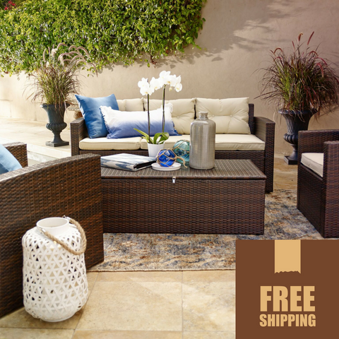 Rio 4 Piece Outdoor Wicker Set