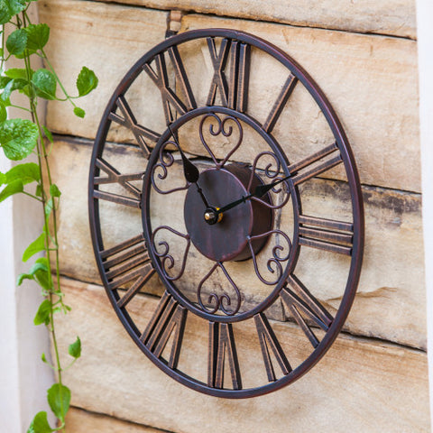 "13"" Copper Outdoor Clock"