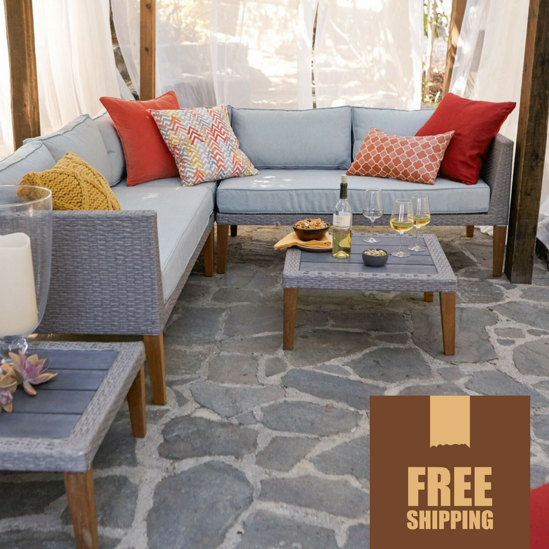 Turin 5-Piece Contemporary Outdoor Sectional Set
