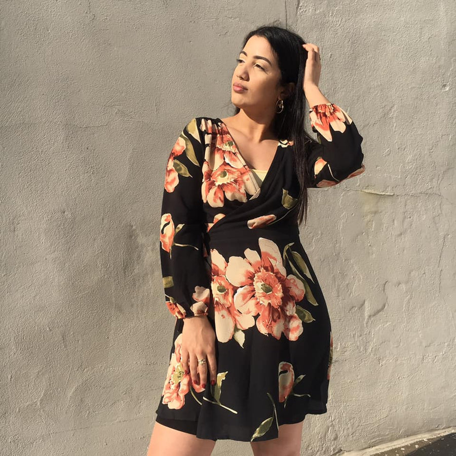 TERRY Floral Wrap Dress