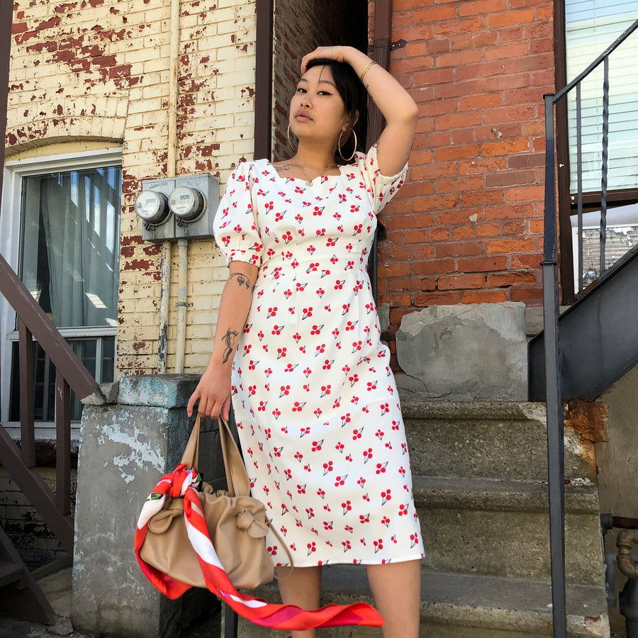 FAUSTA  Cherry Print Dress