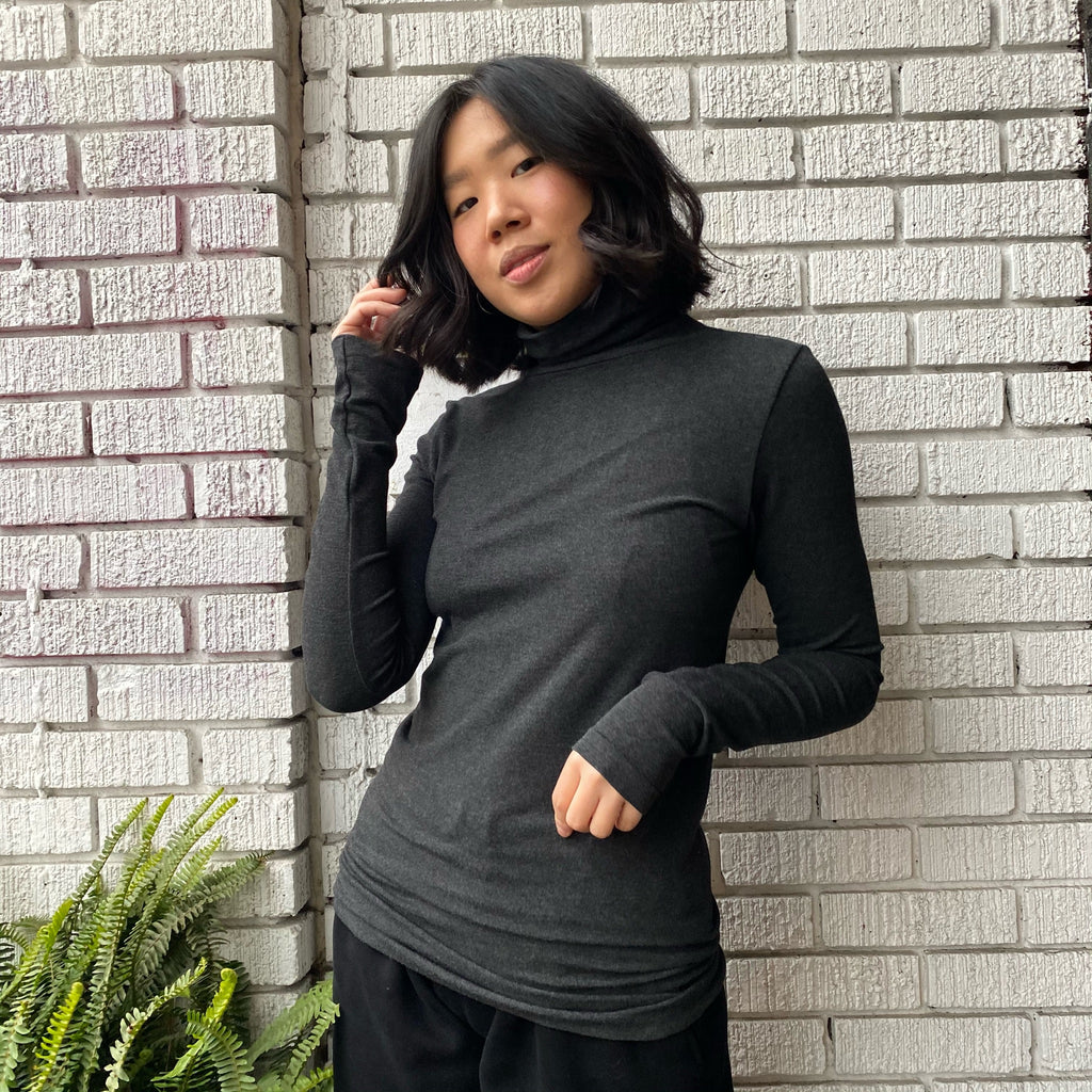 Bamboo Turtleneck Top