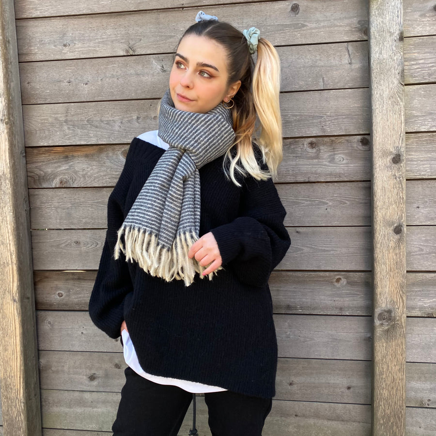NINA Oversized Stripe Cozy Scarf