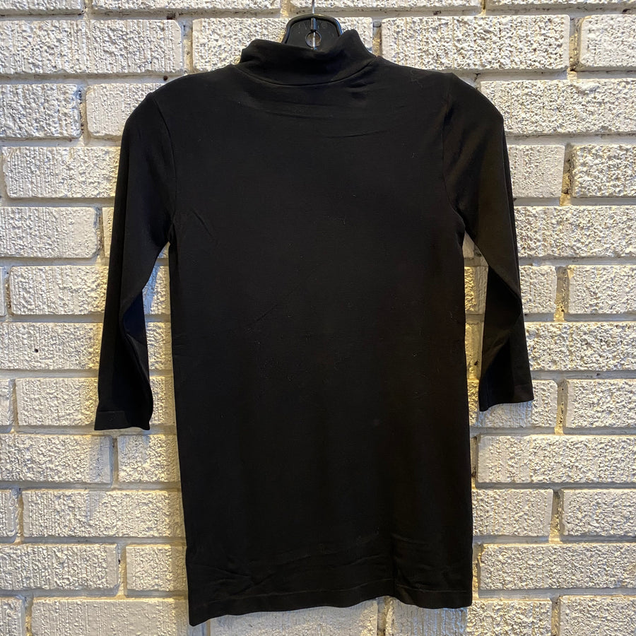 Bamboo 3/4 Sleeve Mock Neck Top