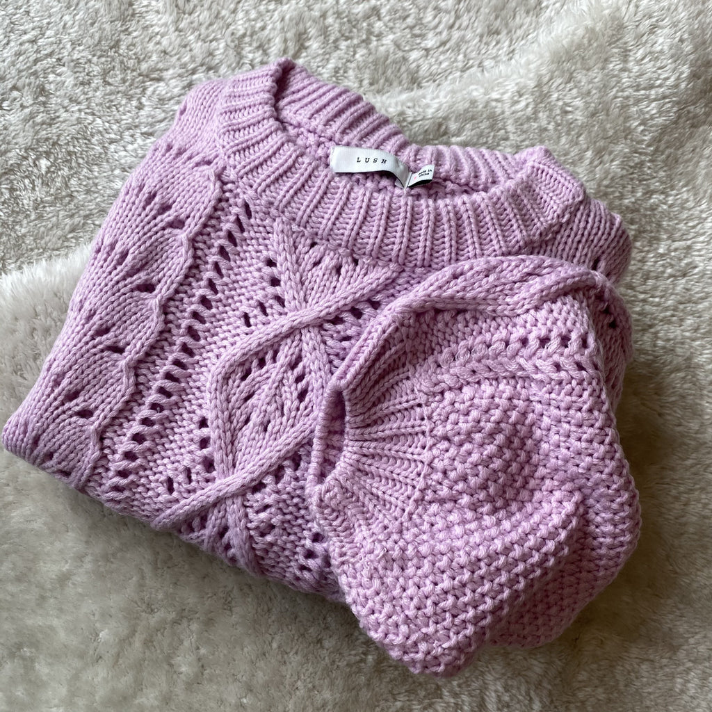 DENNY Cable Knit Sweater