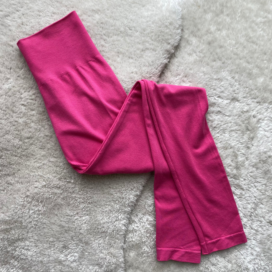 Bamboo High Waisted Ribbed Leggings