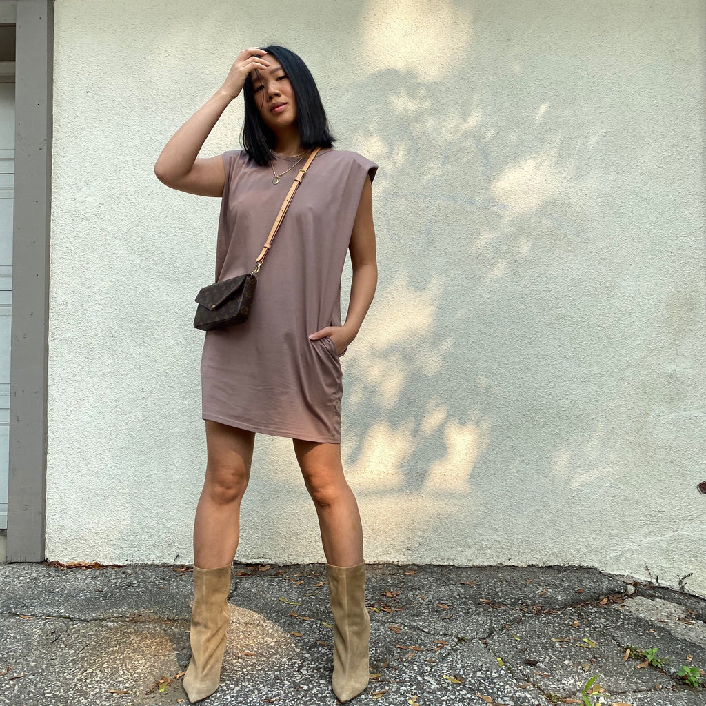 ANDI Shoulder Pad Tee Dress